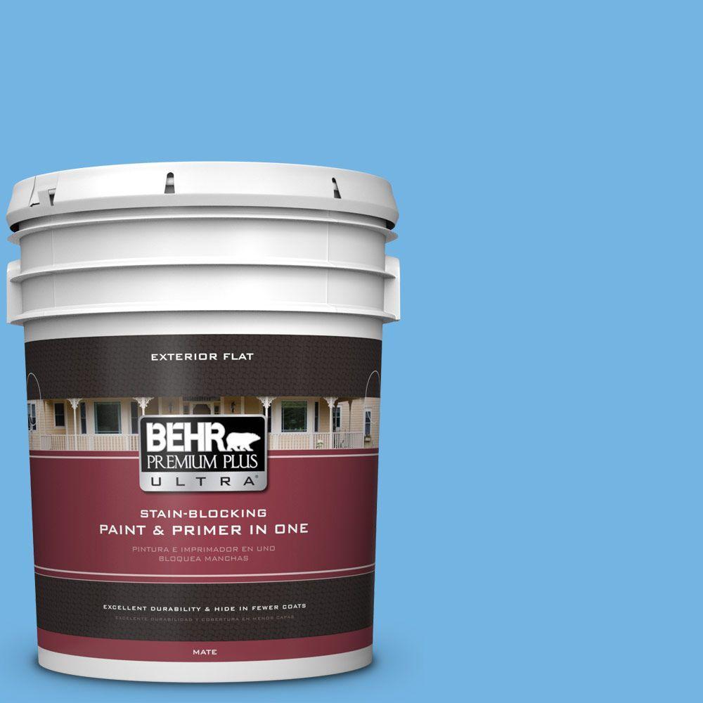 BEHR Premium Plus Ultra 5-gal. #P510-4 Electra Flat Exterior Paint