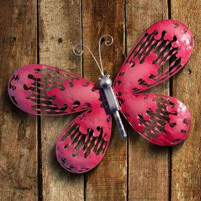 Red and Pink Butterfly Wall Decoration