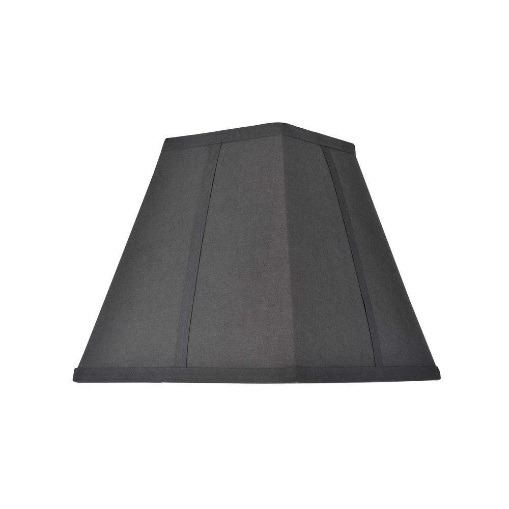 Aspen Creative Corporation 10 In X 9 5 Black Hardback Square Lamp Shade