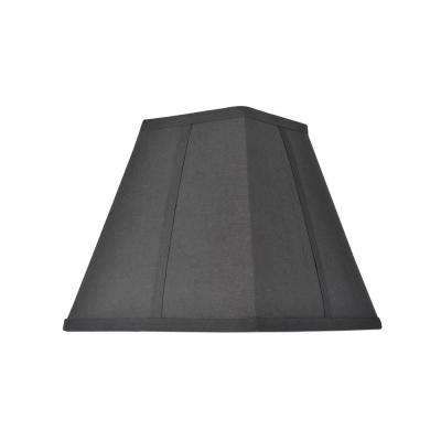 10 in. x 9.5 in. Black Hardback Square Lamp Shade