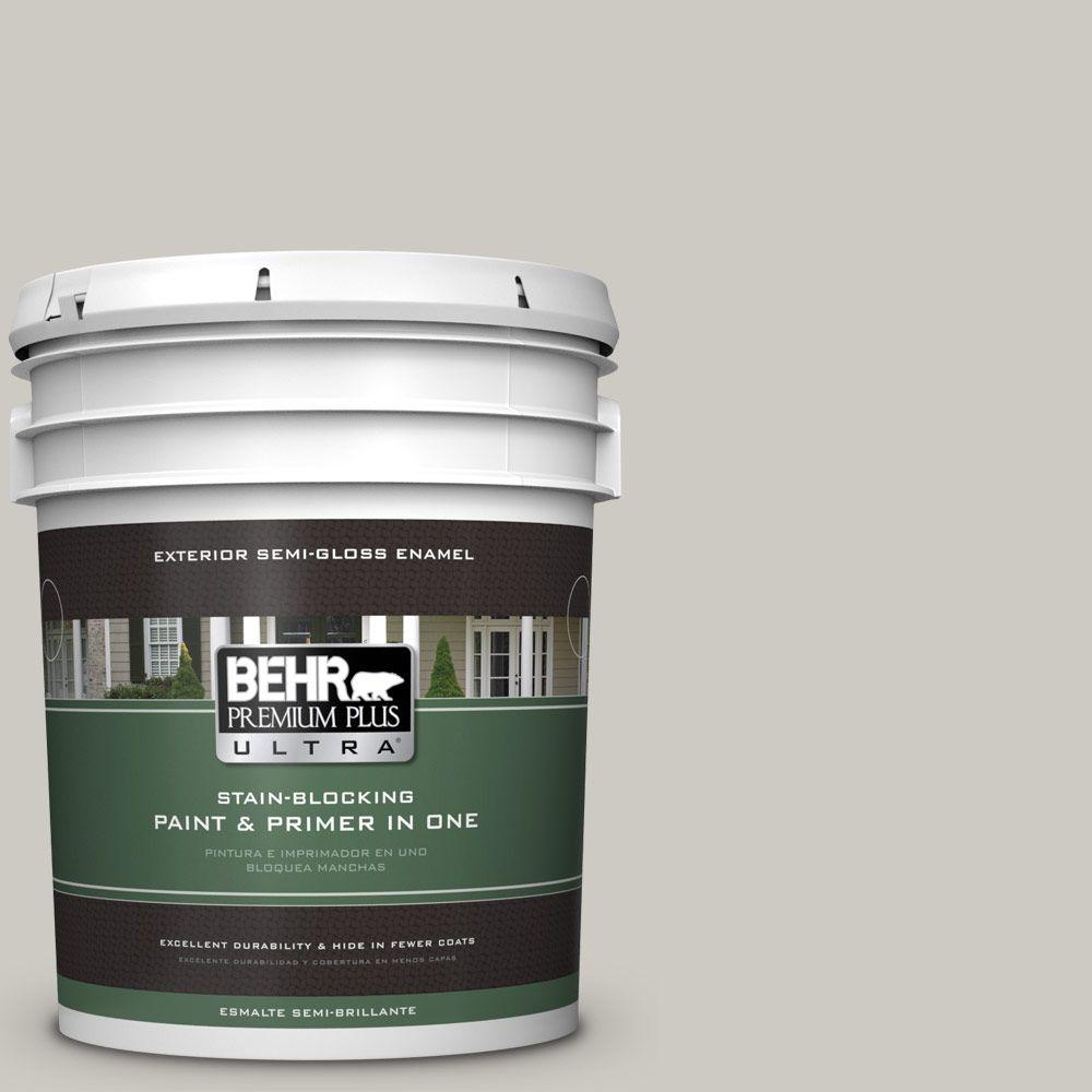 BEHR Premium Plus Ultra 5-gal. #790C-3 Dolphin Fin Semi-Gloss Enamel Exterior Paint