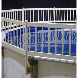 The Vinyl Works Above Ground Pool Fence Kit 3 Sections In Taupe