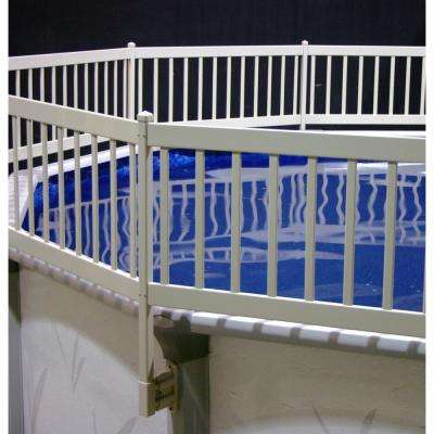 Above-Ground Pool Fence Kit (3 Sections) in Taupe