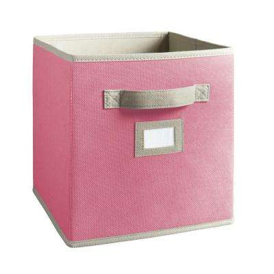 10-1/2 in. x 11 in. Pink Fabric Drawer