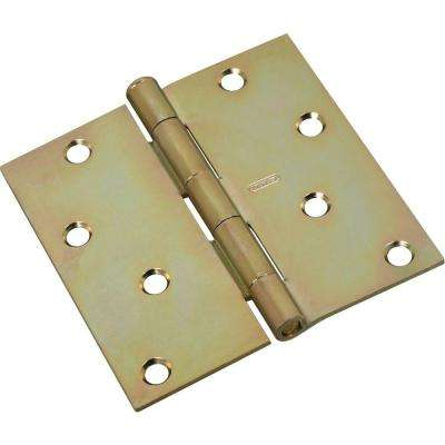 4 in. x 4 in. Satin Brass Tone Residential Hinge