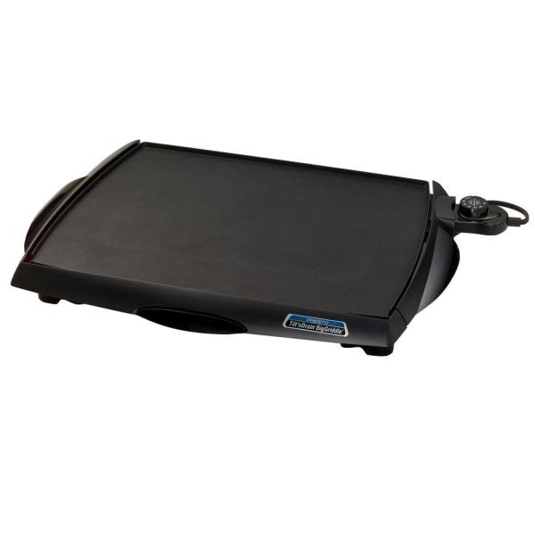 Tilt 'n Drain 285 sq. in. Black Non-Stick Electric Griddle