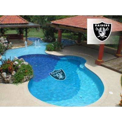 NFL Oakland Raiders 59 in. x 59 in. Large Pool Graphic