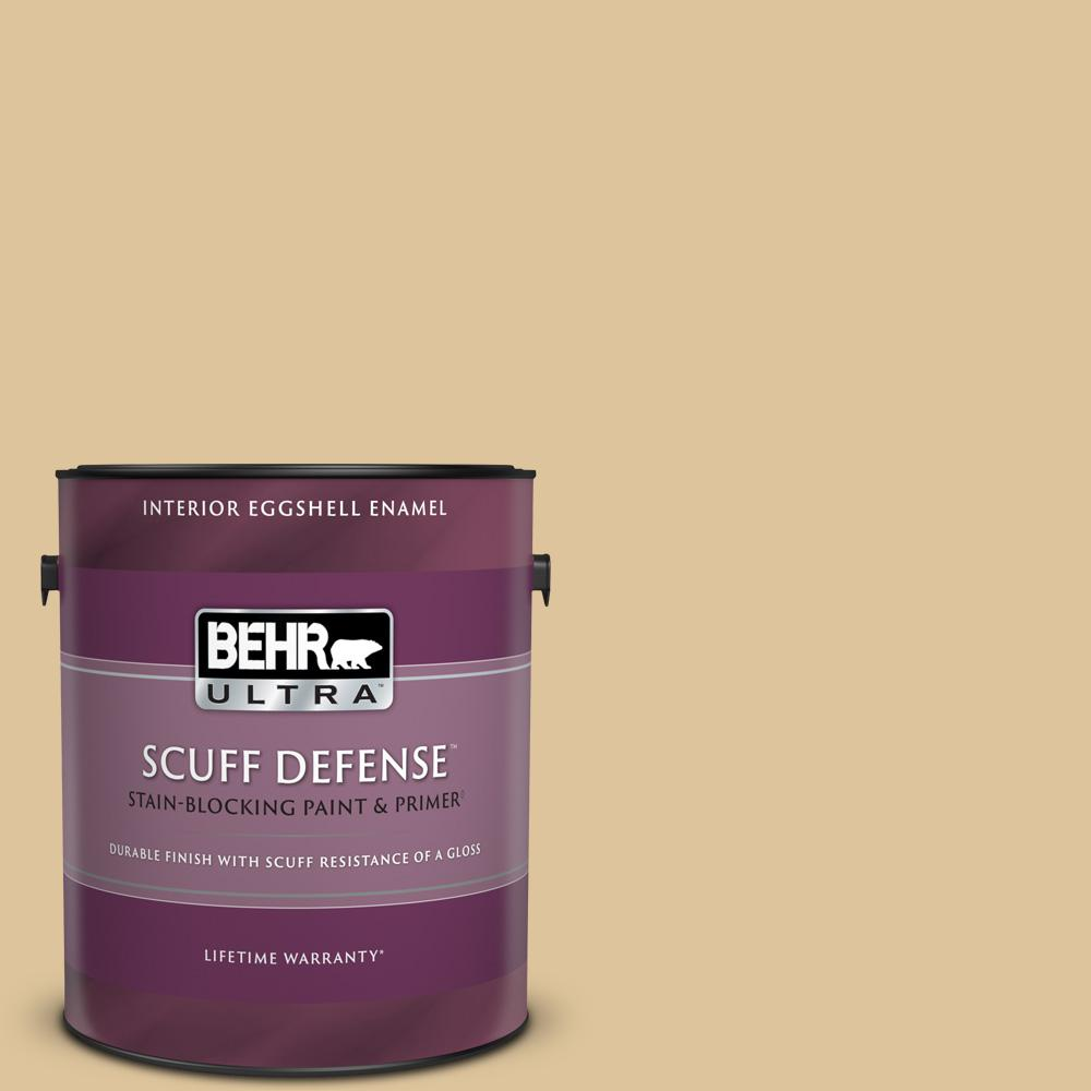 Behr Ultra 1 Gal S300 3 Almond Cookie Extra Durable Eggshell Enamel Interior Paint Primer 275401 The Home Depot