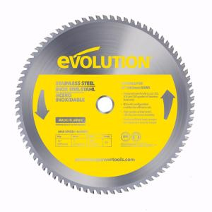 Evolution Power Tools 12 inch 80-Teeth Stainless-Steel Cutting Saw Blade by Evolution Power Tools
