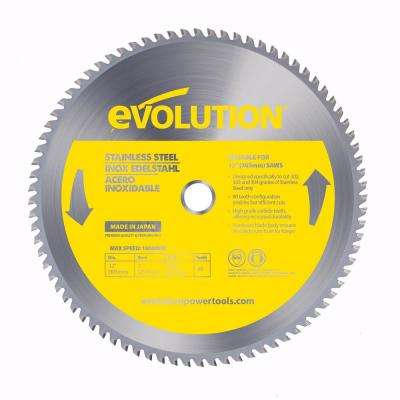 12 in. 80-Teeth Stainless-Steel Cutting Saw Blade