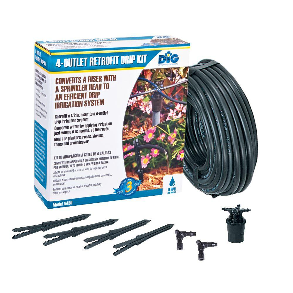 Dig 4 Outlet Retrofit Drip Manifold Kit A450 The Home Depot