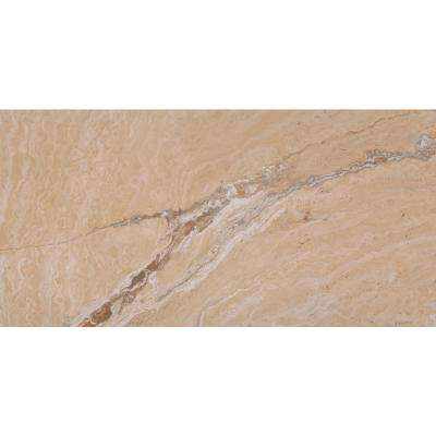 Pietra Vezio Beige 12 in. x 24 in. Polished Porcelain Floor and Wall Tile (16 sq. ft. / case)