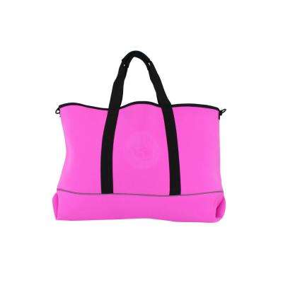 Pink and Black High Tide Large All Day Tote Bag