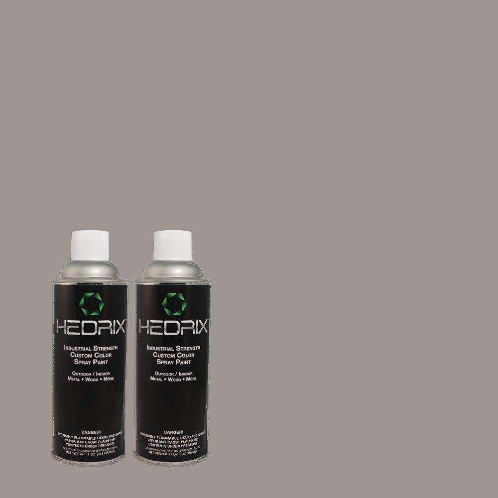 Hedrix 11 oz. Match of PPU18-4 Dark Pewter Low Lustre Custom Spray Paint (8-Pack)