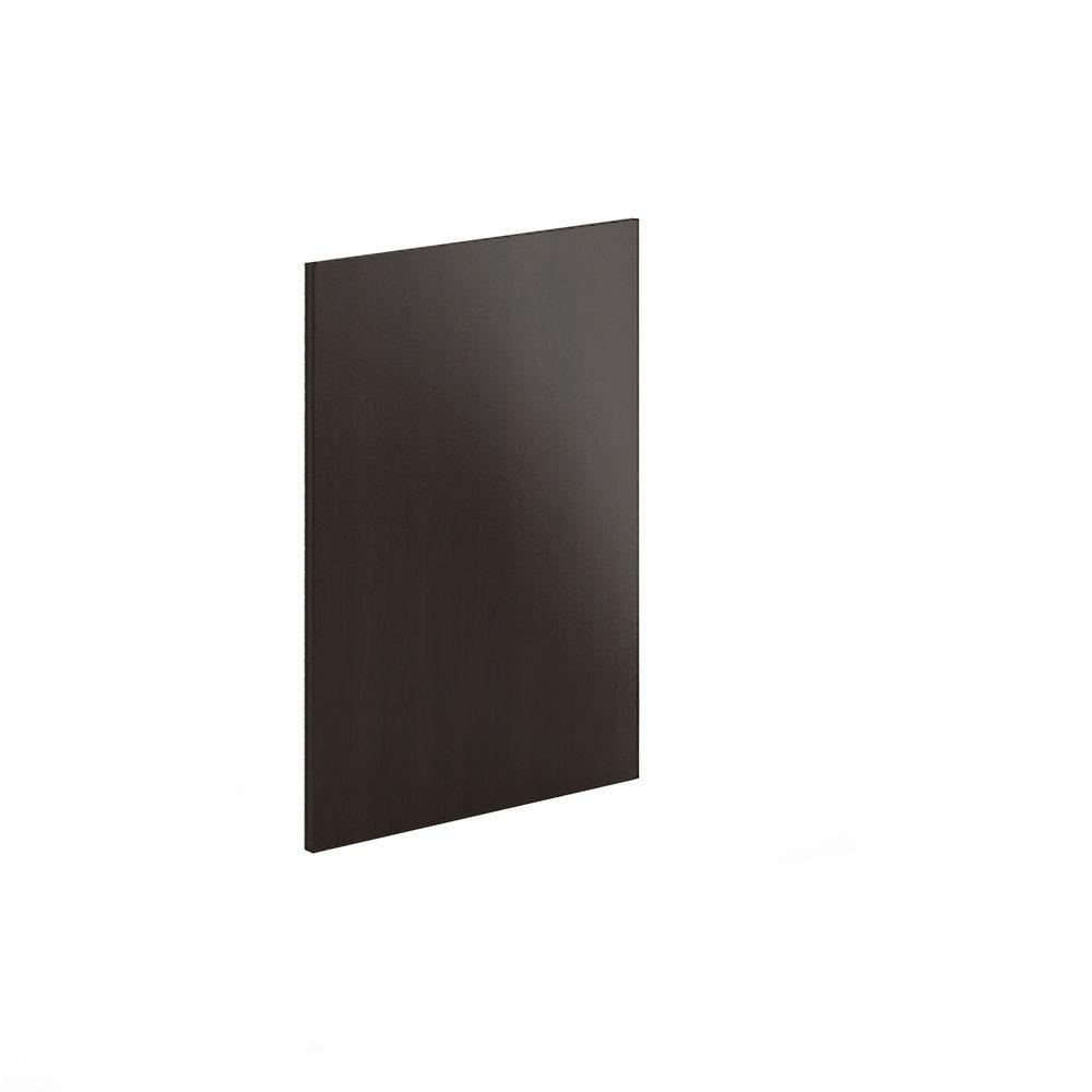 Eurostyle 24x30x0.75 in. Finishing End Panel in Dark Brown Melamine