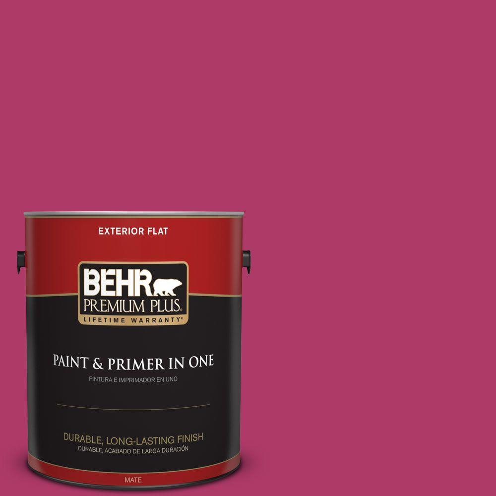 1 gal. #HDC-SM16-04 Bing Cherry Pie Flat Exterior Paint