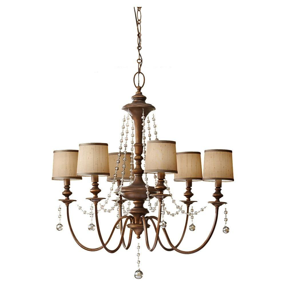 Feiss Clarissa 6-Light Firenze Gold Chandelier