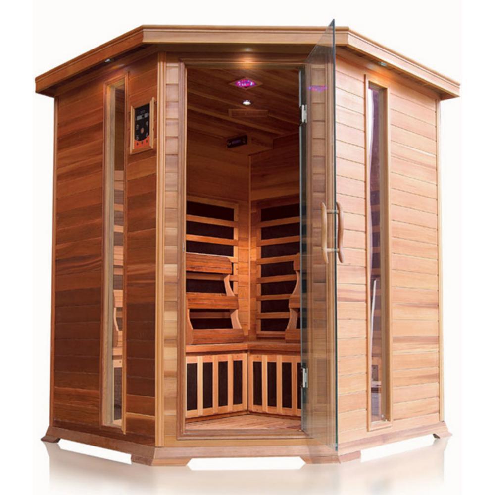 4-Person Cedar Corner Infrared Sauna