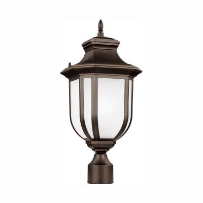 Childress 1-Light Outdoor Antique Bronze Post Light with LED Bulb