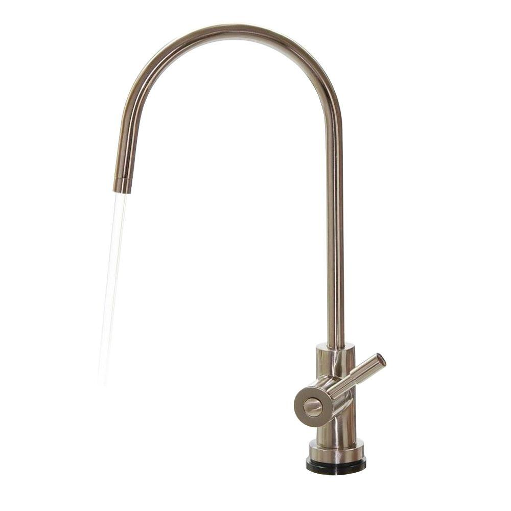 ISPRING European Designer Drinking Water Faucet in Brushed Nickel ...