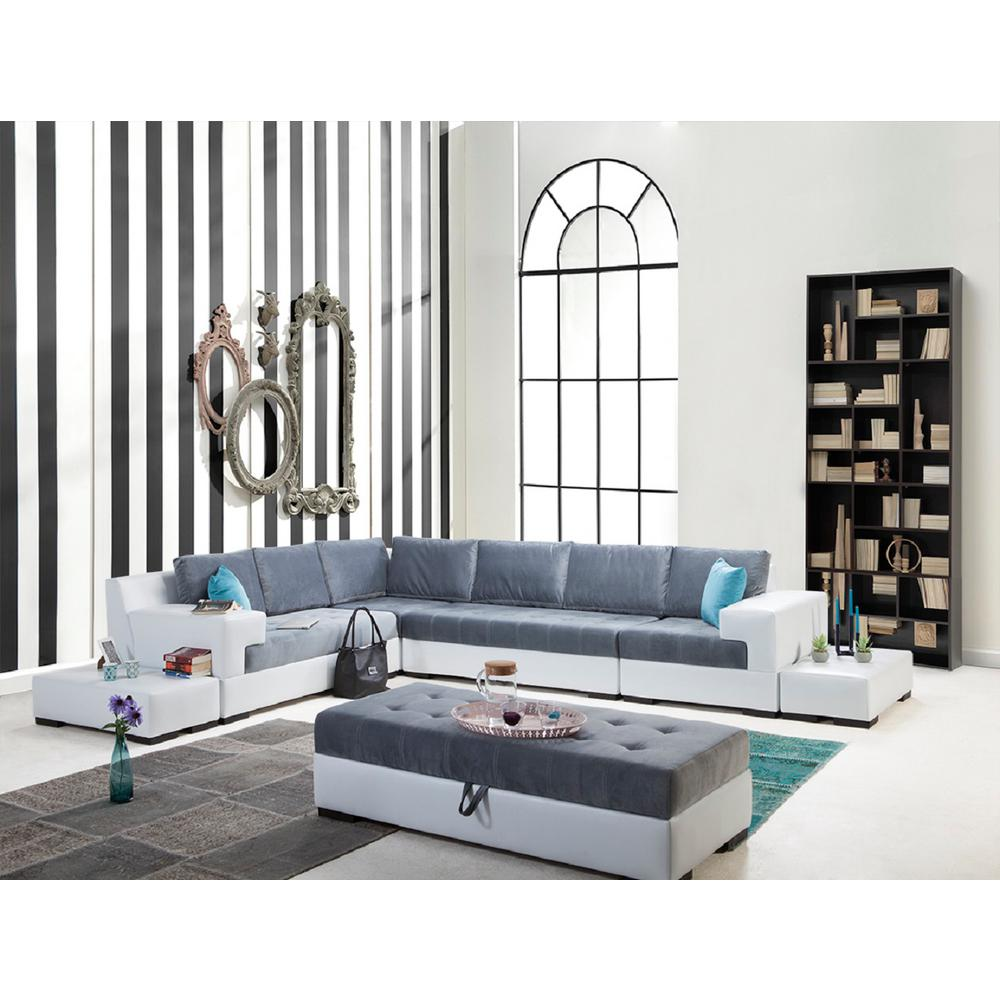 Luna 7-Piece White Sectional-Lunawhite - The Home Depot