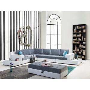 Luna 7-Piece White Sectional by