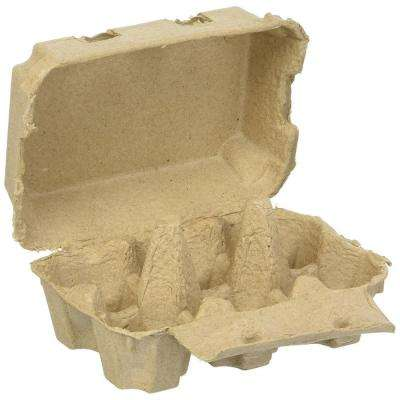 Six Pack Biodegradable Egg Cartons for Farm Fresh Eggs Coop to Table Standard Size Cells Fit up to Extra Large Eggs