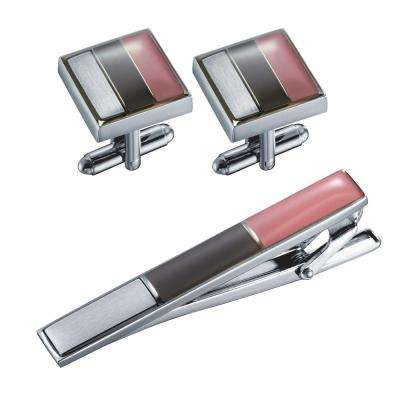 Troy Cufflinks and Tie Bar Gift Set