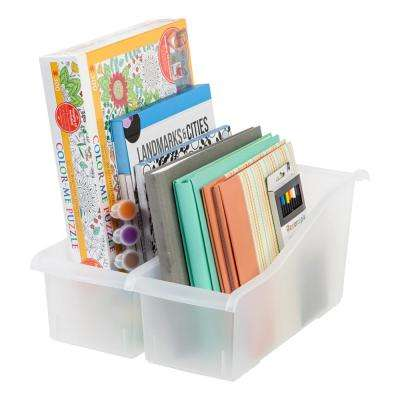 Connecting Book Bin in Clear (8-Pack)