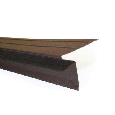 2 in. x 1-1/2 in. x 10 ft. Galvanized Steel Drip Edge Flashing in Brown