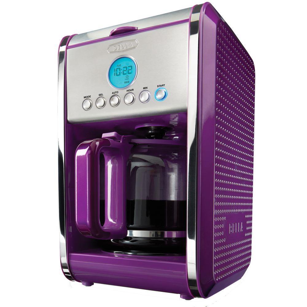 Bella Dots Programmable 12-Cup Coffee Maker in Purple