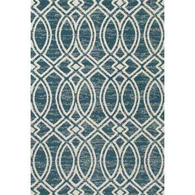 Highline Ogee Trellis Aqua 5 ft. x 8 ft. Area Rug