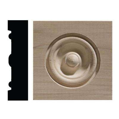 886C 13/16 in. x 3-1/4 in. x 3-1/4 in. White Hardwood Corner Block Moulding