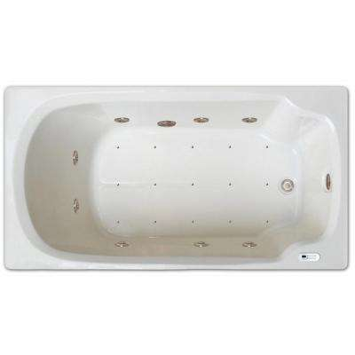 5 ft. Right Drain Drop-in Rectangular Whirlpool and Air Bath Tub in White with Tranquility Package