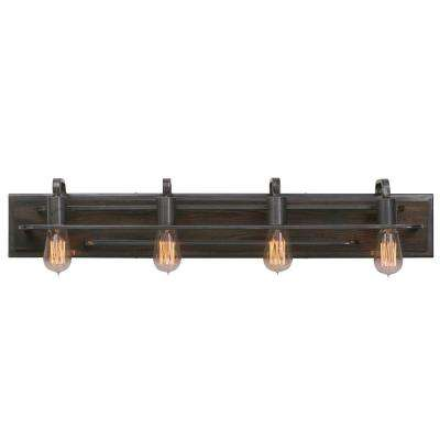 Lofty 4-Light Steel Vanity Light