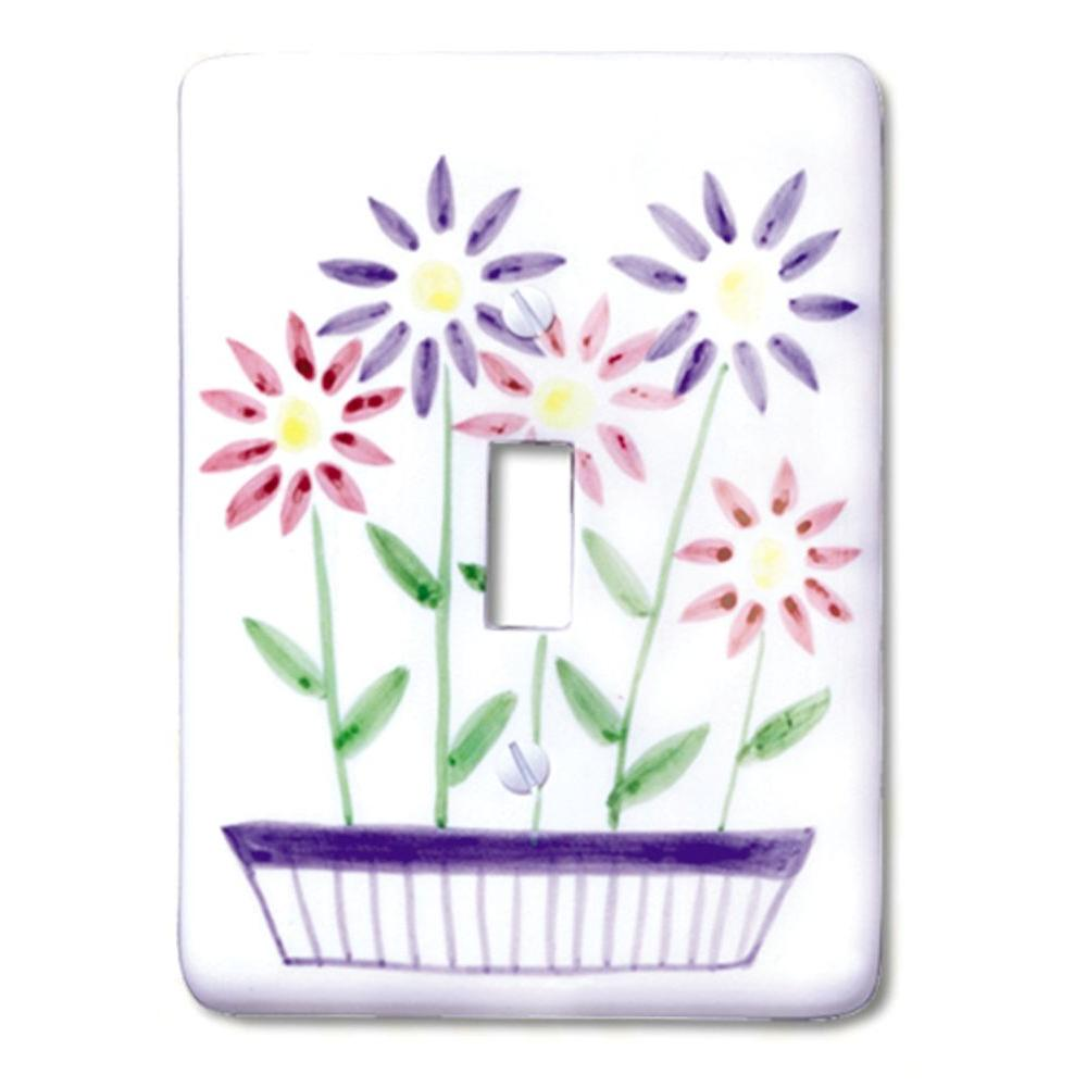 Flower Box 1 Toggle Wall Plate
