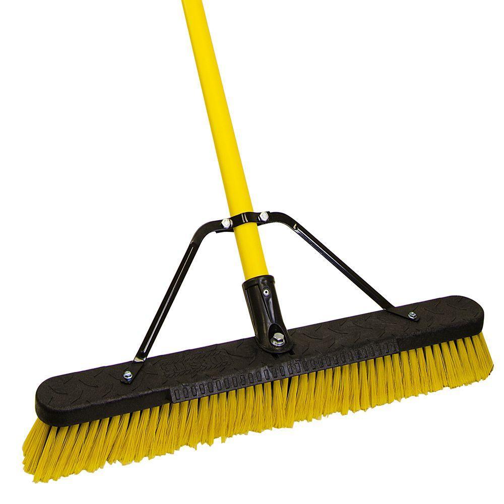 Quickie Jobsite 24 In Multi Surface Fiberglass Push Broom