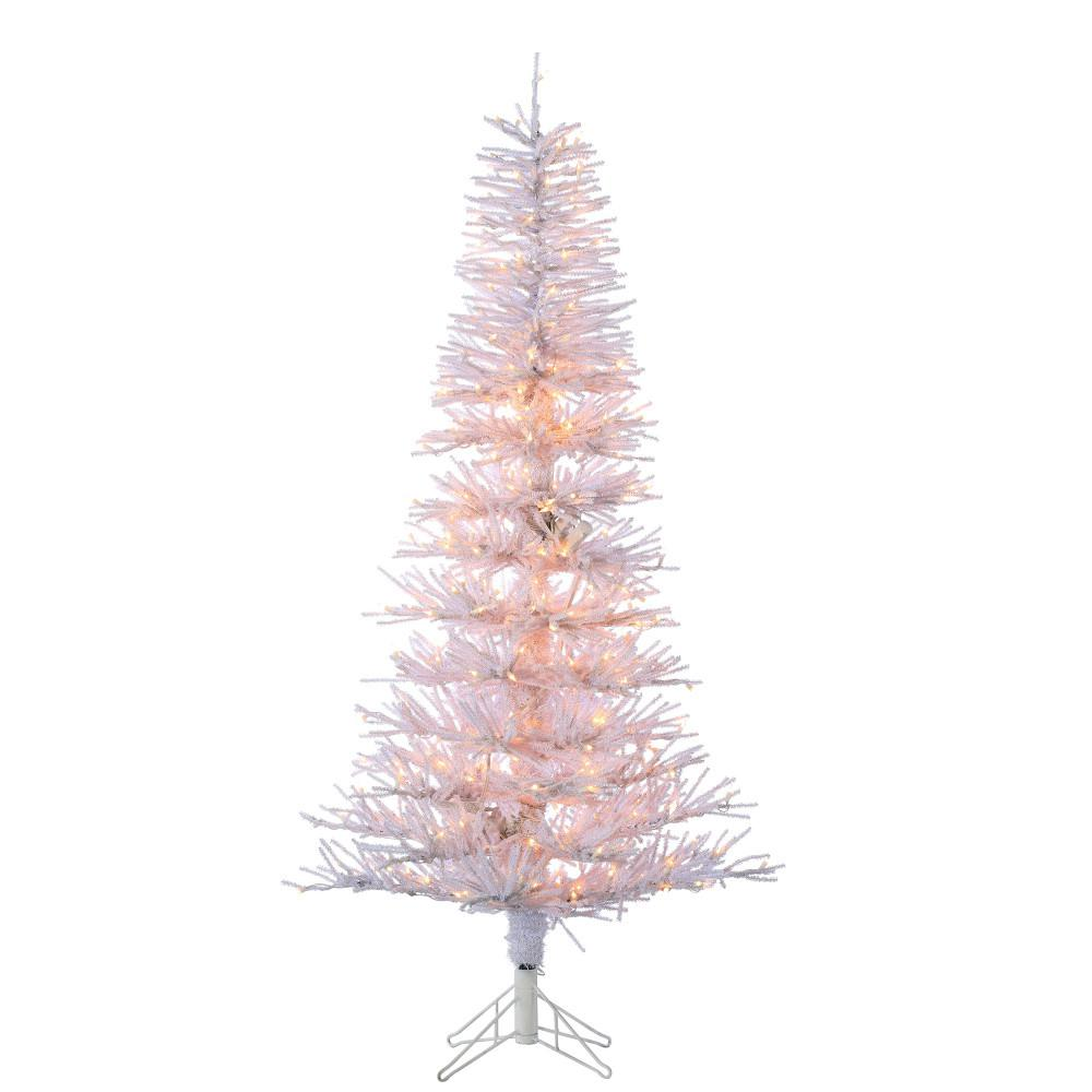 pre lit white tinsel twig artificial christmas tree