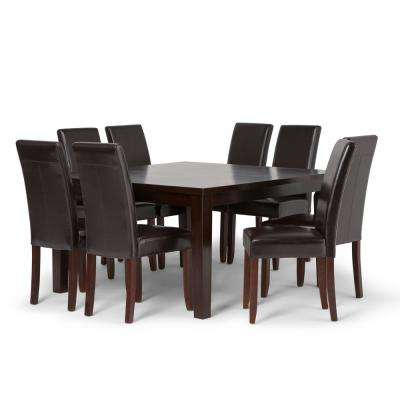 Acadian 9 Piece Tanners Brown Dining Set