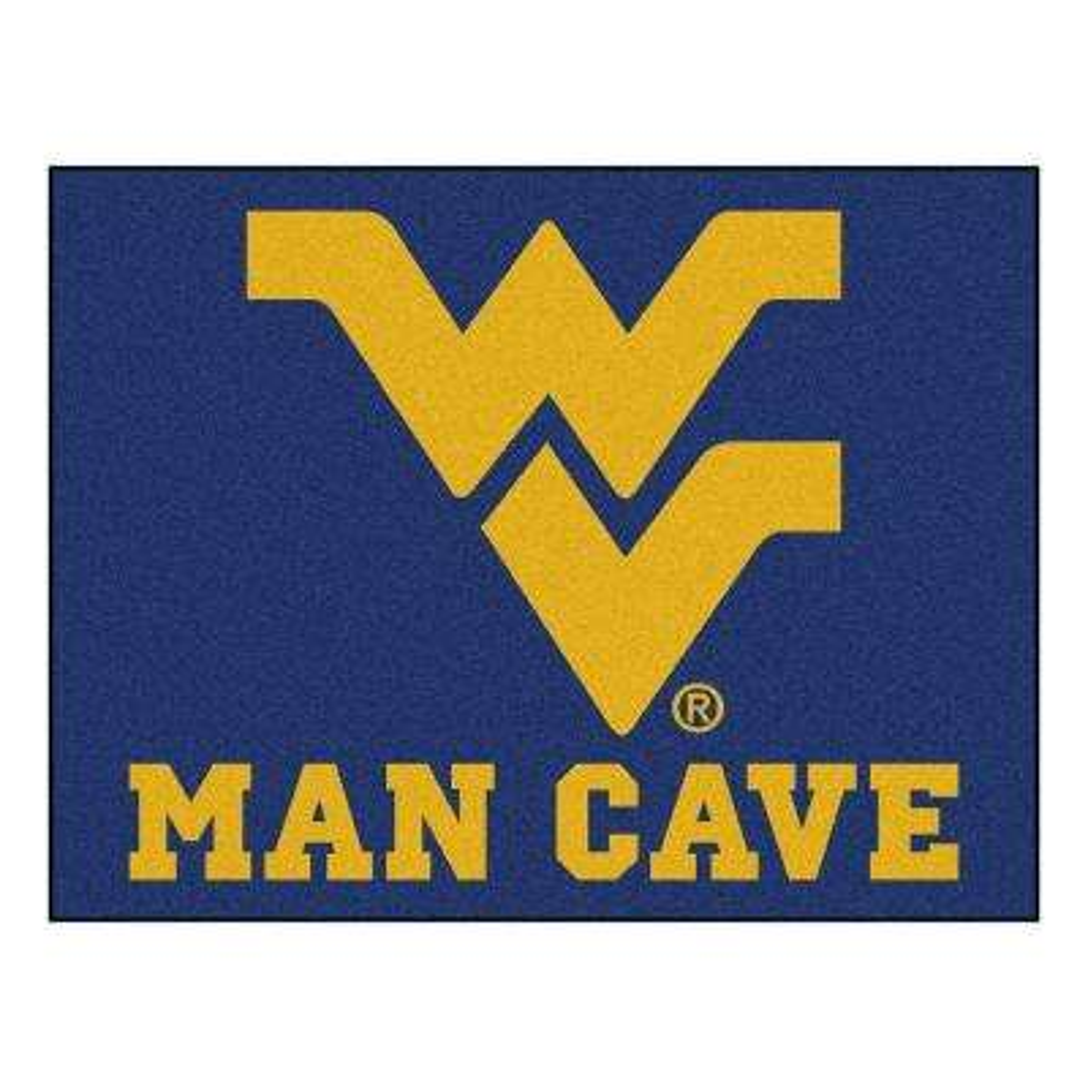 West Virginia University Blue Man Cave 3 ft. x 4 ft. Area Rug