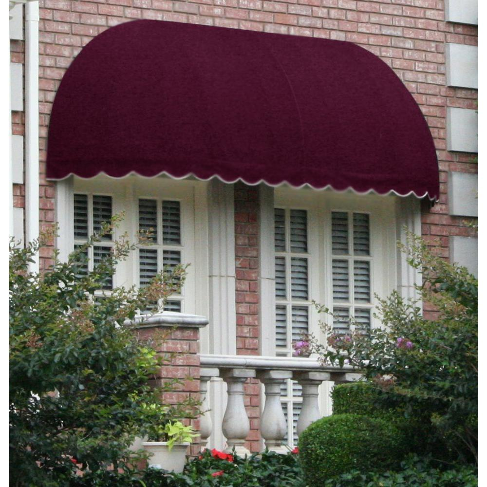 AWNTECH 10 ft. Chicago Window/Entry Awning (31 in. H x 24 in. D) in Burgundy, Red