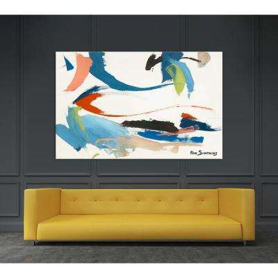 "54 in. x 84 in. ""Untitled"" by Ron Simpkins Printed Framed Canvas Wall Art"