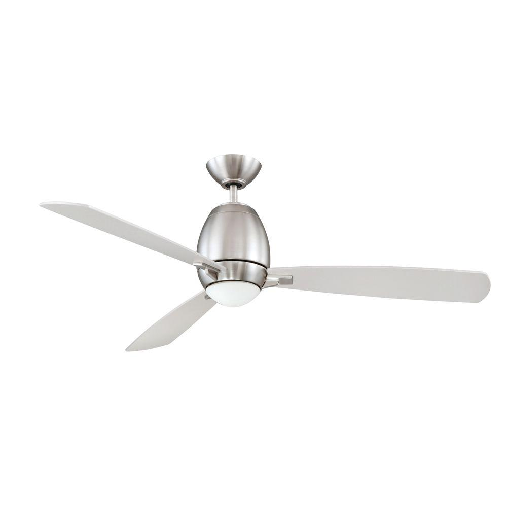 Designers Choice Collection Quattro 52 in. Satin Nickel Ceiling Fan