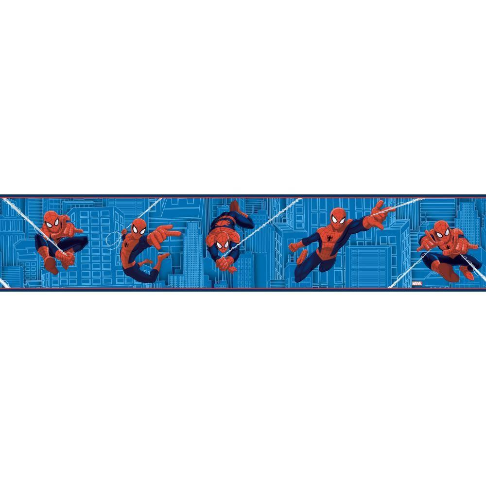 York Wallcoverings Inspired By Color Ultimate Spiderman