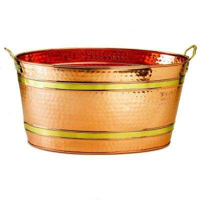 7.75 Gal. Oval Decor Copper Party Tub