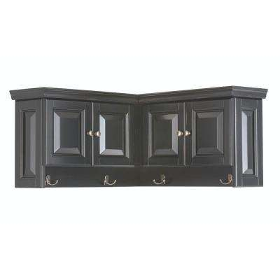 Walker 16 in. H x 30 in. W x 30 in. D Wooden Corner Wall Cabinet in Black