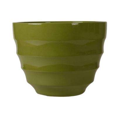 Athena 12 in. Round Prairie Resin Planter