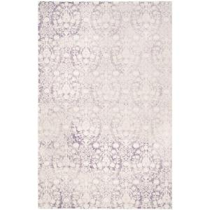 Passion Lavender/Ivory 7 ft. x 9 ft. Area Rug