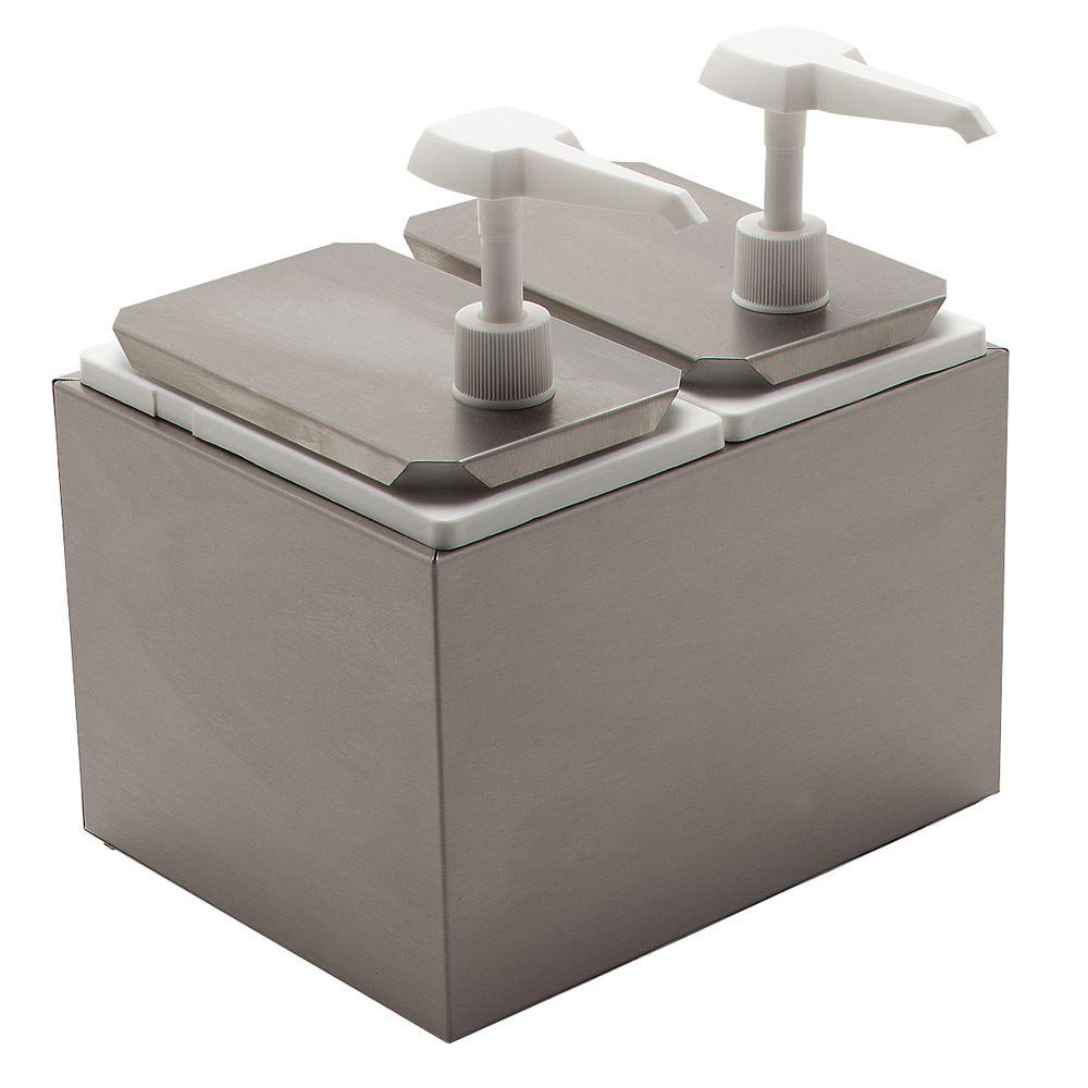 Standard Topping Dispenser with 2 Standard Pumps and Jars