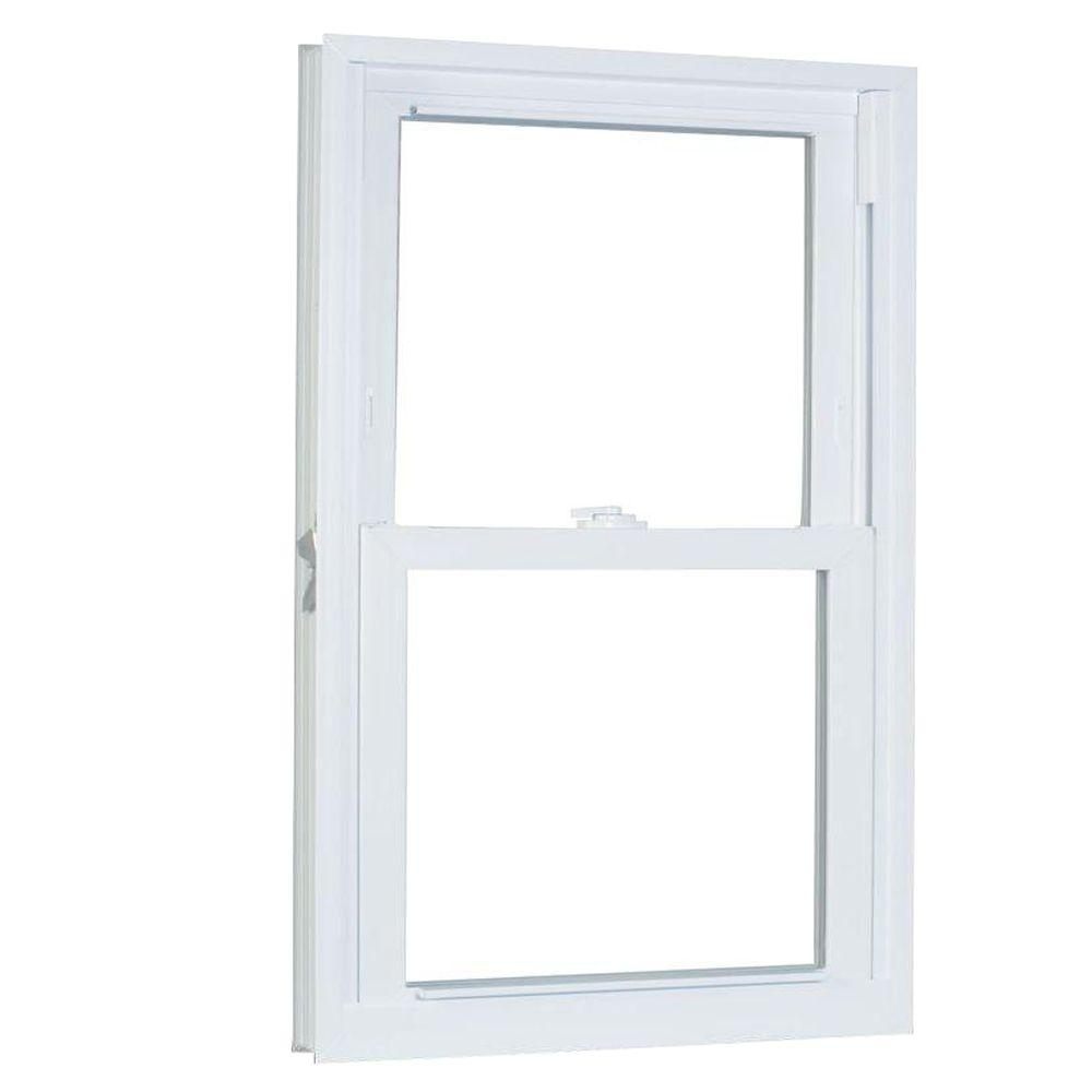 American Craftsman 30.75 in. x 53.25 in. 70 Series Pro Double Hung White Vinyl Window with Buck Frame